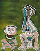 Flute Player and Watermelon Eater 1965 By Pablo Picasso