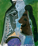 Head of a Woman and Head of a man 1967 By Pablo Picasso