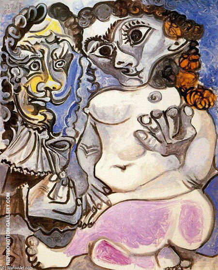 Nude Manand Woman 1967 By Pablo Picasso