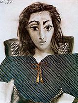Portrait of Jacqueline 1957 By Pablo Picasso