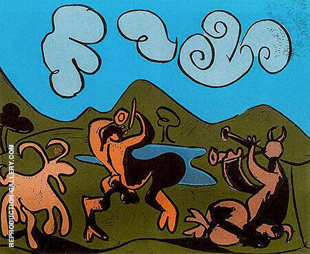 Faun and Goat 1959 By Pablo Picasso