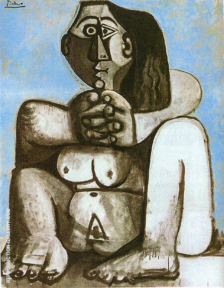Seated Nude 1959 By Pablo Picasso