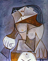 Seated Nude B 1959 By Pablo Picasso