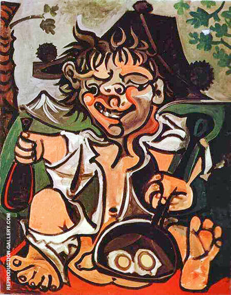 El Bobo 1959 By Pablo Picasso - Oil Paintings & Art Reproductions - Reproduction Gallery