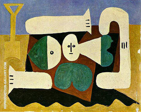 Bather with Sand Shovel 1960 By Pablo Picasso