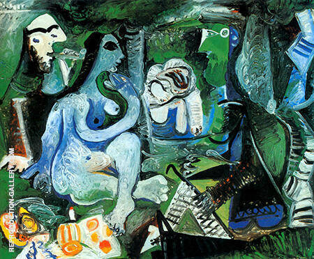 Le dejeuner sur l 39 herbe 1961 by pablo picasso oil for Picasso painting names
