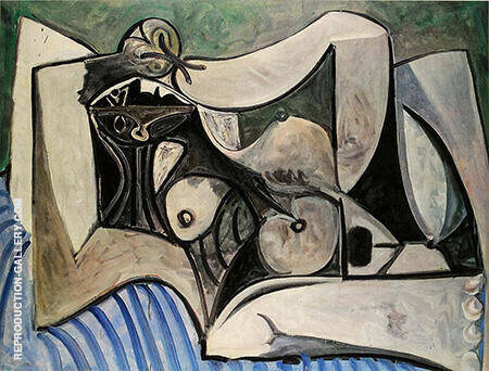 Reclining Nude 1960 By Pablo Picasso - Oil Paintings & Art Reproductions - Reproduction Gallery
