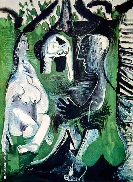 Le Dejeuner sur l'herbe 570 1961 By Pablo Picasso - Oil Paintings & Art Reproductions - Reproduction Gallery
