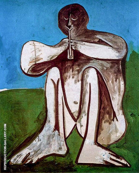 Flute Player 1962 By Pablo Picasso - Oil Paintings & Art Reproductions - Reproduction Gallery
