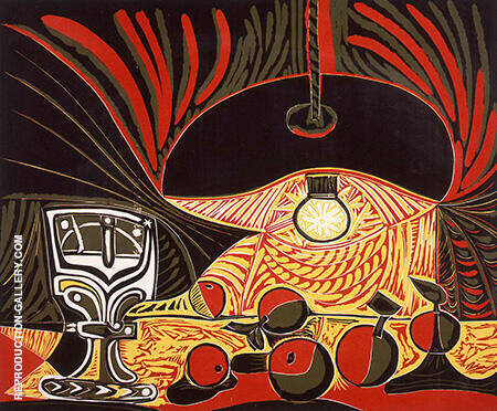 Still Life by Lamplight 1962 By Pablo Picasso - Oil Paintings & Art Reproductions - Reproduction Gallery