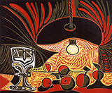 Still Life by Lamplight 1962 By Pablo Picasso