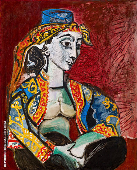 Jacqueline in Turkish Costume 1953 By Pablo Picasso - Oil Paintings & Art Reproductions - Reproduction Gallery