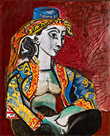 Jacqueline in Turkish Costume 1953 By Pablo Picasso