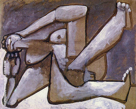 Reproduction of Reclining Woman 1954 by Pablo Picasso | Oil Painting Replica On CanvasReproduction Gallery
