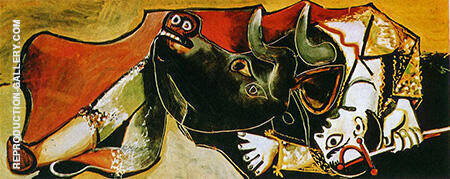 Bullfight Scene 1955 Painting By Pablo Picasso - Reproduction Gallery