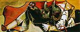Bullfight Scene 1955 By Pablo Picasso