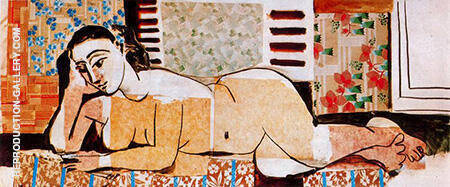 Great Reclining Nude with Crossed Arms 1955 Painting By Pablo Picasso