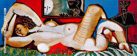 Great Reclining Nude The Voyeurs 1955 Painting By Pablo Picasso