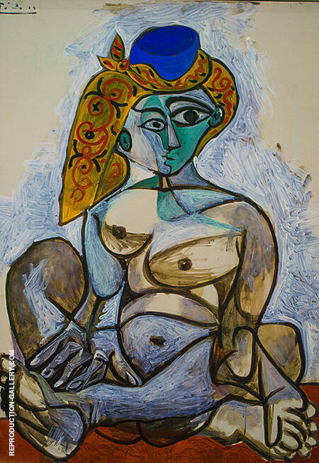 Female Nude in a Turkish Cap 1955 By Pablo Picasso