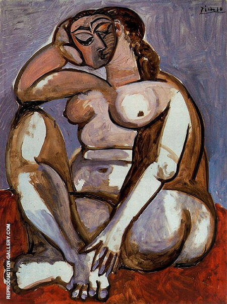Seated Nude 1956 By Pablo Picasso - Oil Paintings & Art Reproductions - Reproduction Gallery