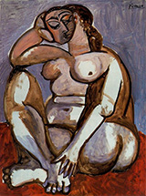 Seated Nude 1956 By Pablo Picasso