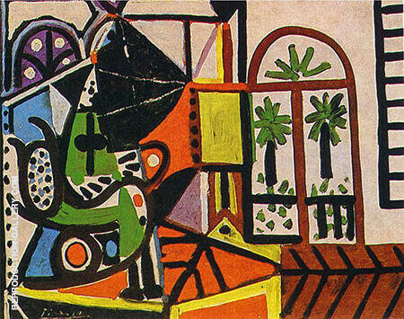 Reproduction of Woman in the Studio 1956 by Pablo Picasso | Oil Painting Replica On CanvasReproduction Gallery