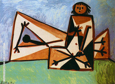 Man and Woman at the Beach 1956 By Pablo Picasso - Oil Paintings & Art Reproductions - Reproduction Gallery