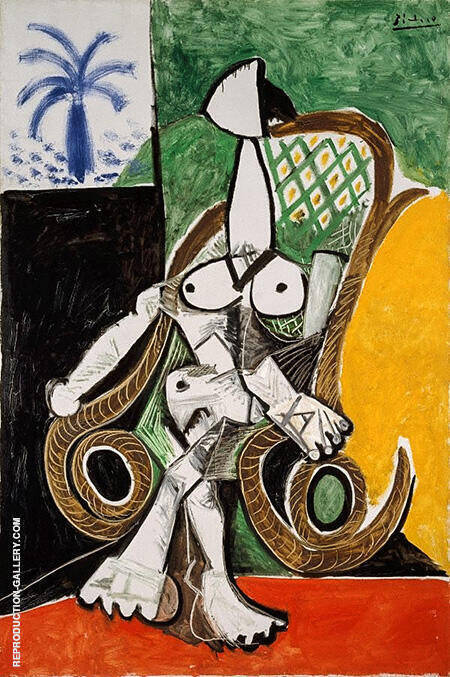 Nude in a Rocking Chair 1956 By Pablo Picasso - Oil Paintings & Art Reproductions - Reproduction Gallery