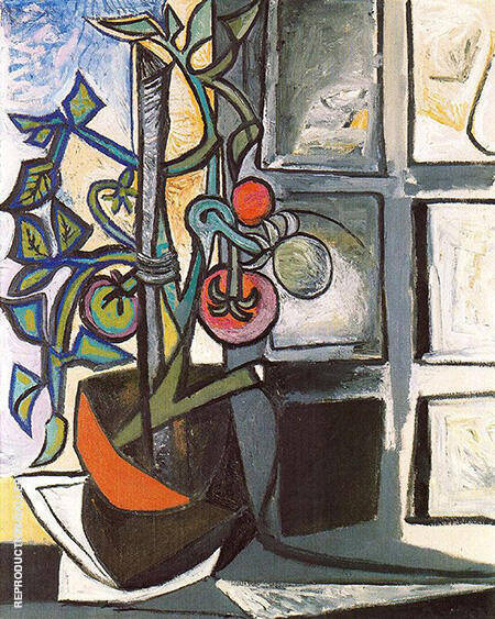 Tomato Plant 1944 By Pablo Picasso - Oil Paintings & Art Reproductions - Reproduction Gallery