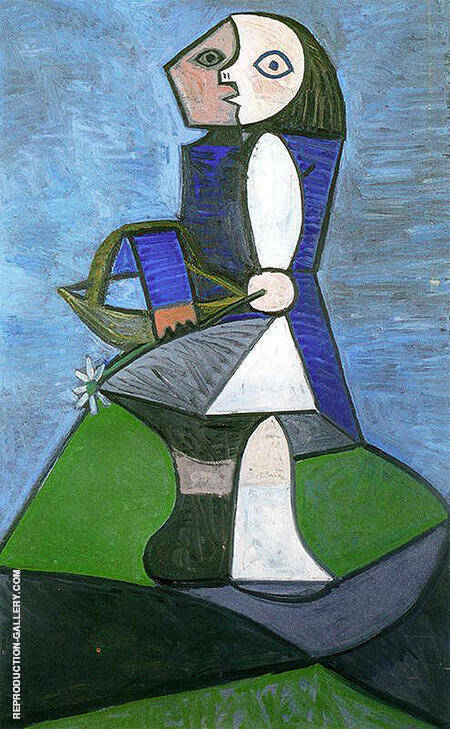 Child with Flower 1945 Painting By Pablo Picasso - Reproduction Gallery