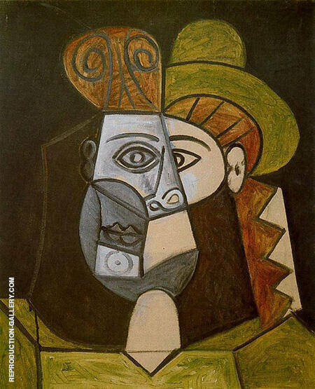Head of a Woman 1947 By Pablo Picasso - Oil Paintings & Art Reproductions - Reproduction Gallery