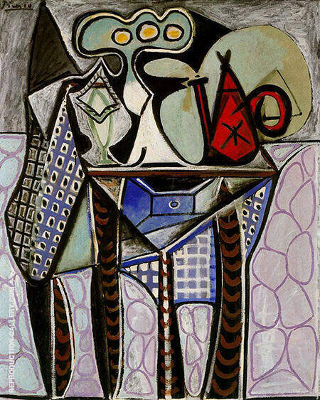 Still Life on a Table 1947 By Pablo Picasso - Oil Paintings & Art Reproductions - Reproduction Gallery