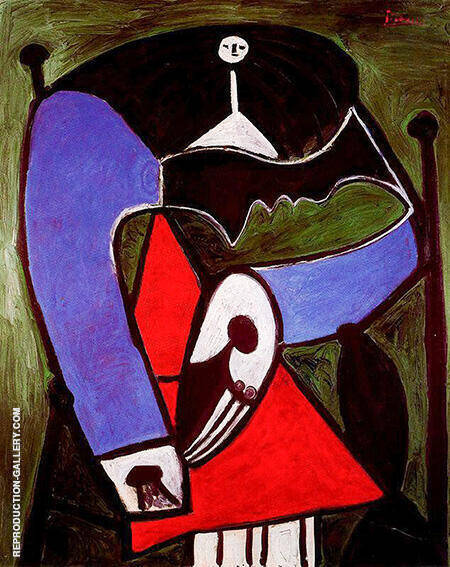 Seated Woman in an Armchair 1948 Painting By Pablo Picasso