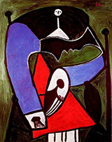 Seated Woman in an Armchair 1948 By Pablo Picasso