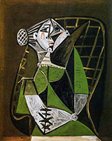 Seated Woman with a Bun 1951 By Pablo Picasso