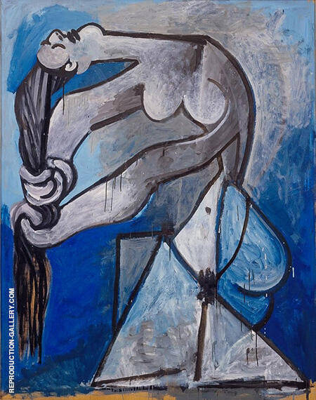 Nude Wringing Her Hair 1952 By Pablo Picasso - Oil Paintings & Art Reproductions - Reproduction Gallery