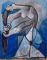 Nude Wringing Her Hair 1952 By Pablo Picasso