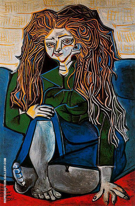 Portrait of Madame H.P. 1952 By Pablo Picasso - Oil Paintings & Art Reproductions - Reproduction Gallery