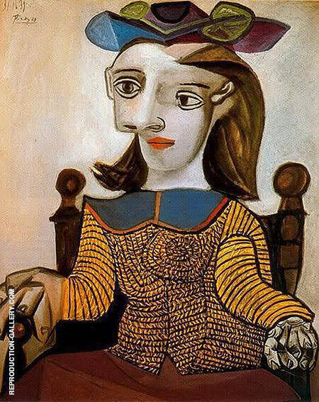 The Yellow Sweater Dora Maar 1939 By Pablo Picasso - Oil Paintings & Art Reproductions - Reproduction Gallery