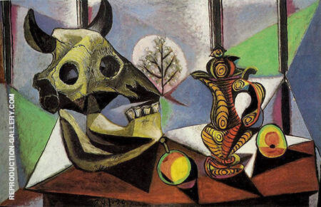 Still Life with Bulls Head 1939 By Pablo Picasso - Oil Paintings & Art Reproductions - Reproduction Gallery