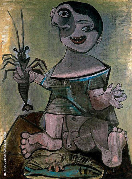 Boy with Lobster 1941 By Pablo Picasso
