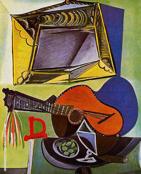 Still Life with Guitar 1942 By Pablo Picasso - Oil Paintings & Art Reproductions - Reproduction Gallery