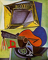 Still Life with Guitar 1942 By Pablo Picasso