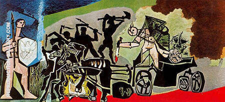 War 1952 By Pablo Picasso - Oil Paintings & Art Reproductions - Reproduction Gallery