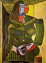 Woman in Green 1943 By Pablo Picasso