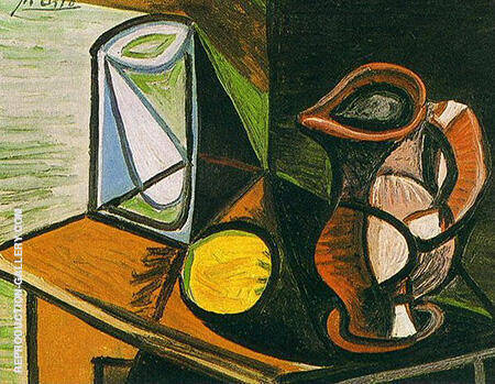Glass and Pitcher 1944 By Pablo Picasso - Oil Paintings & Art Reproductions - Reproduction Gallery