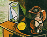 Glass and Pitcher 1944 By Pablo Picasso