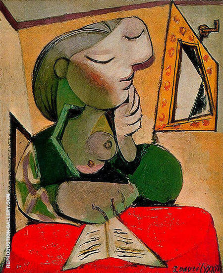 Portrait of a Woman 1936 By Pablo Picasso - Oil Paintings & Art Reproductions - Reproduction Gallery