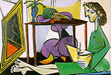 Interior with a Girl Drawing 1935 By Pablo Picasso