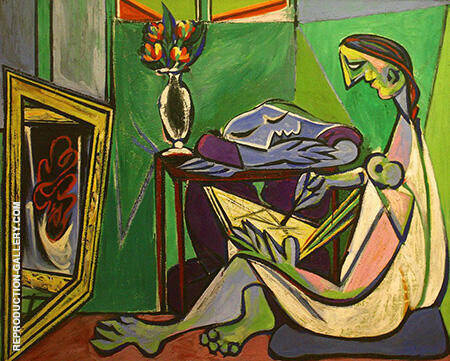 Young Woman Drawing The Muse 1935 By Pablo Picasso